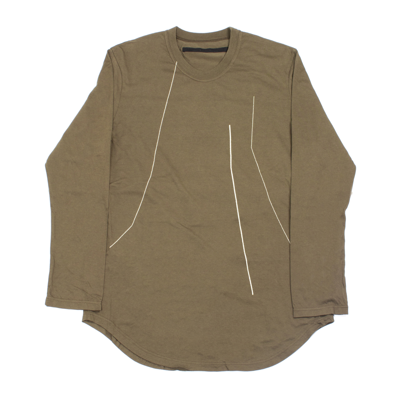 727CUM9-S-BROWN / 刺繍 ロングスリーブ Tシャツ