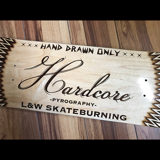 Burning skateboard Hardcore
