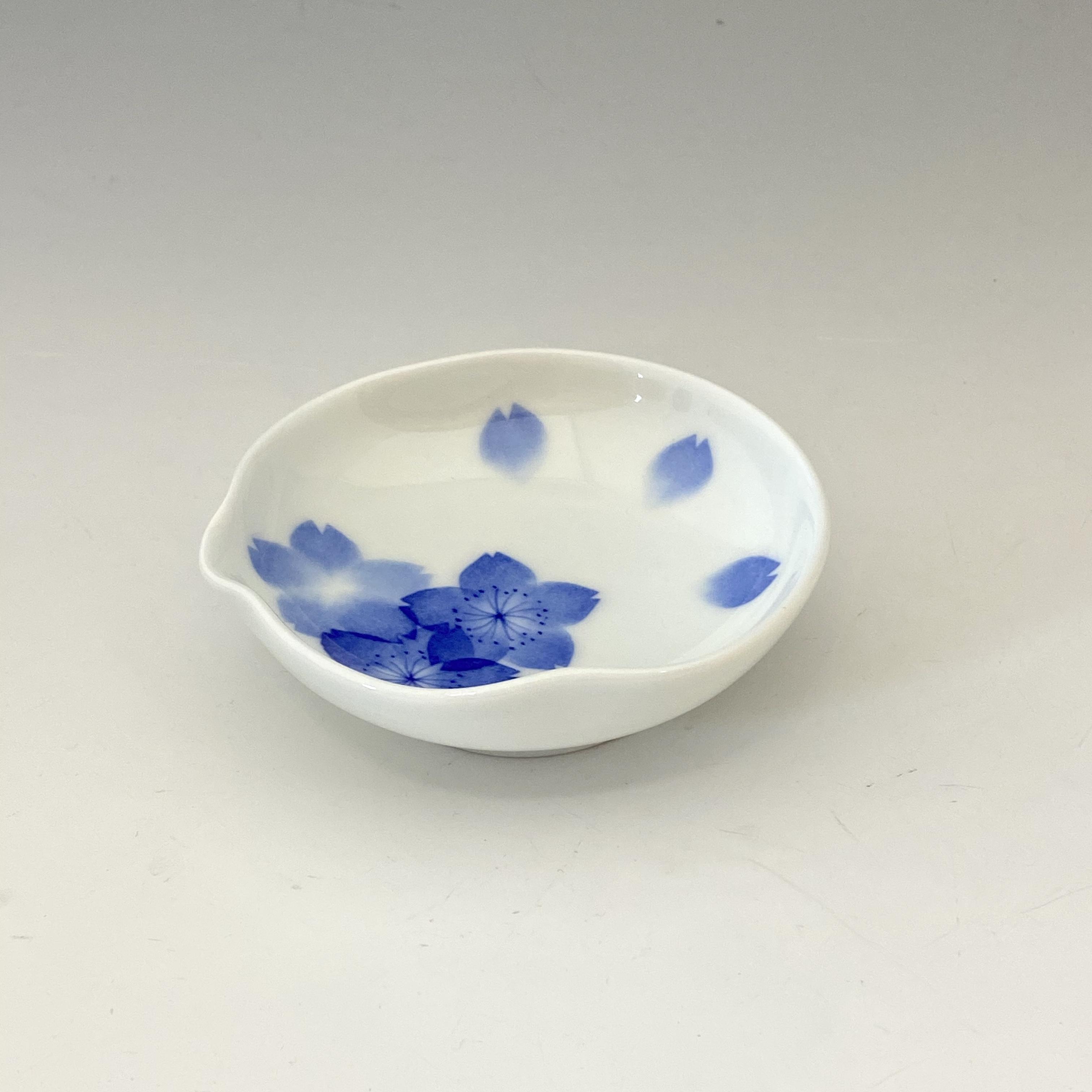 【中尾英純】和紙染桜文豆皿