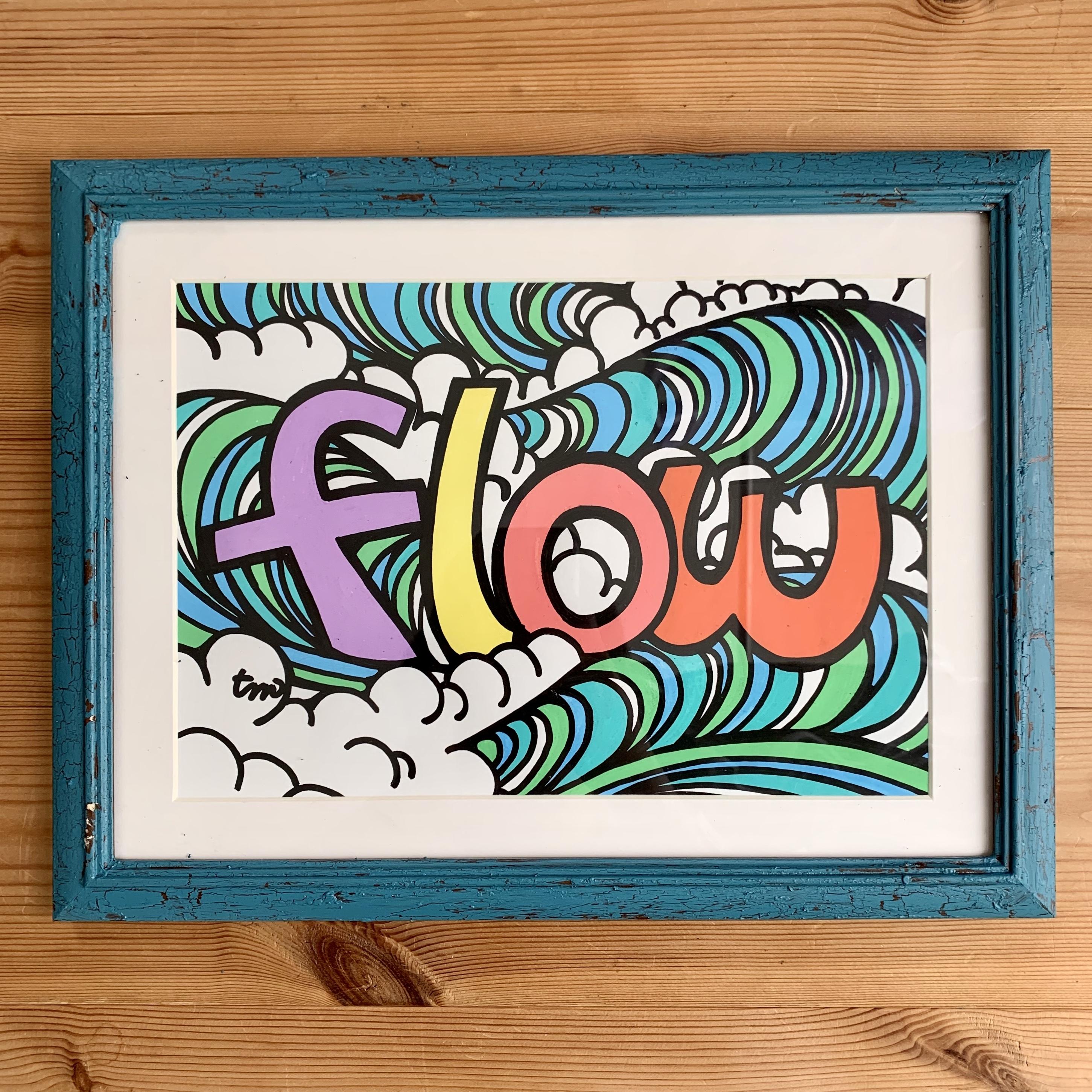 【原画】Flow(A4/フレーム付)