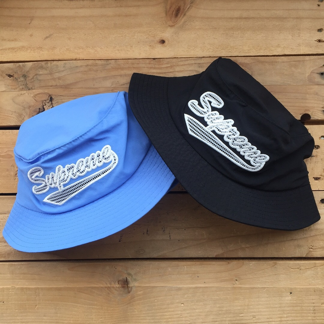 Supreme Mesh Script Crusher Hat