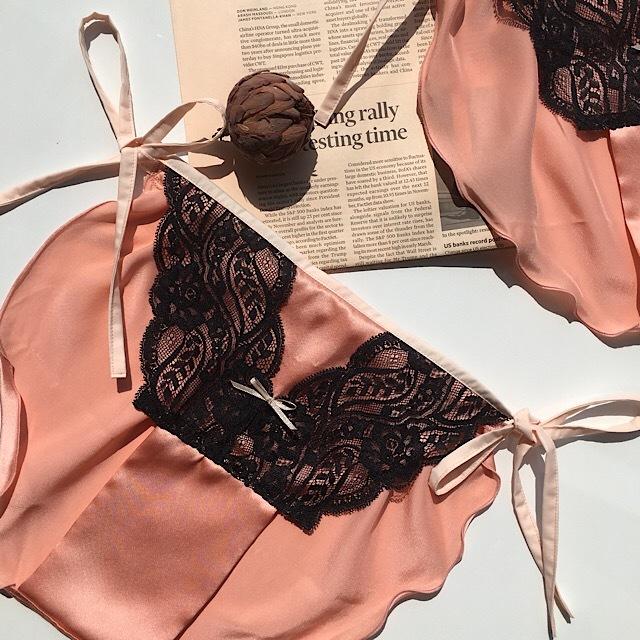 【NEW ラスト1枚】シルク lingerie* ランジェリー