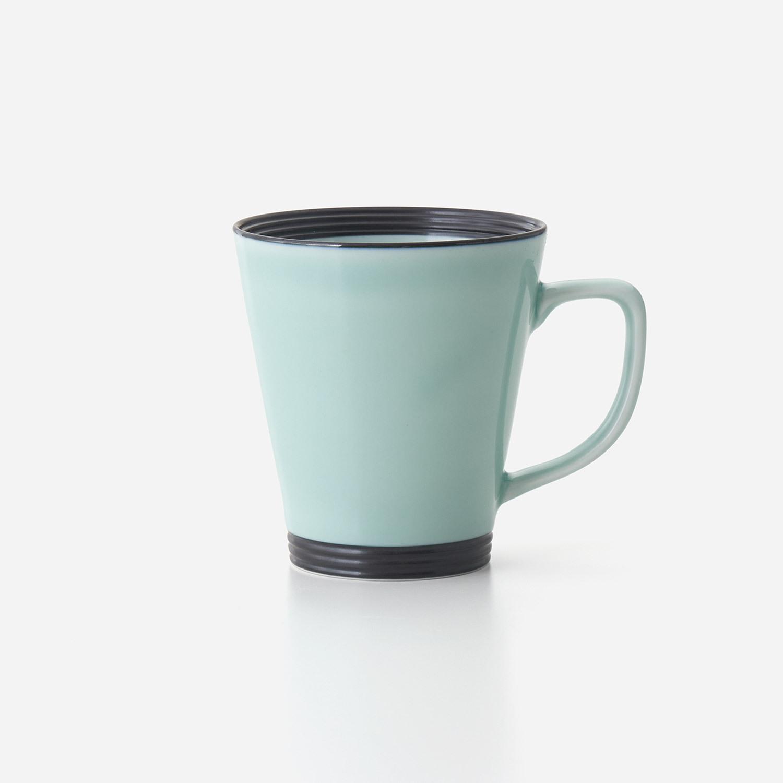 青磁黒彩 広口長マグカップ