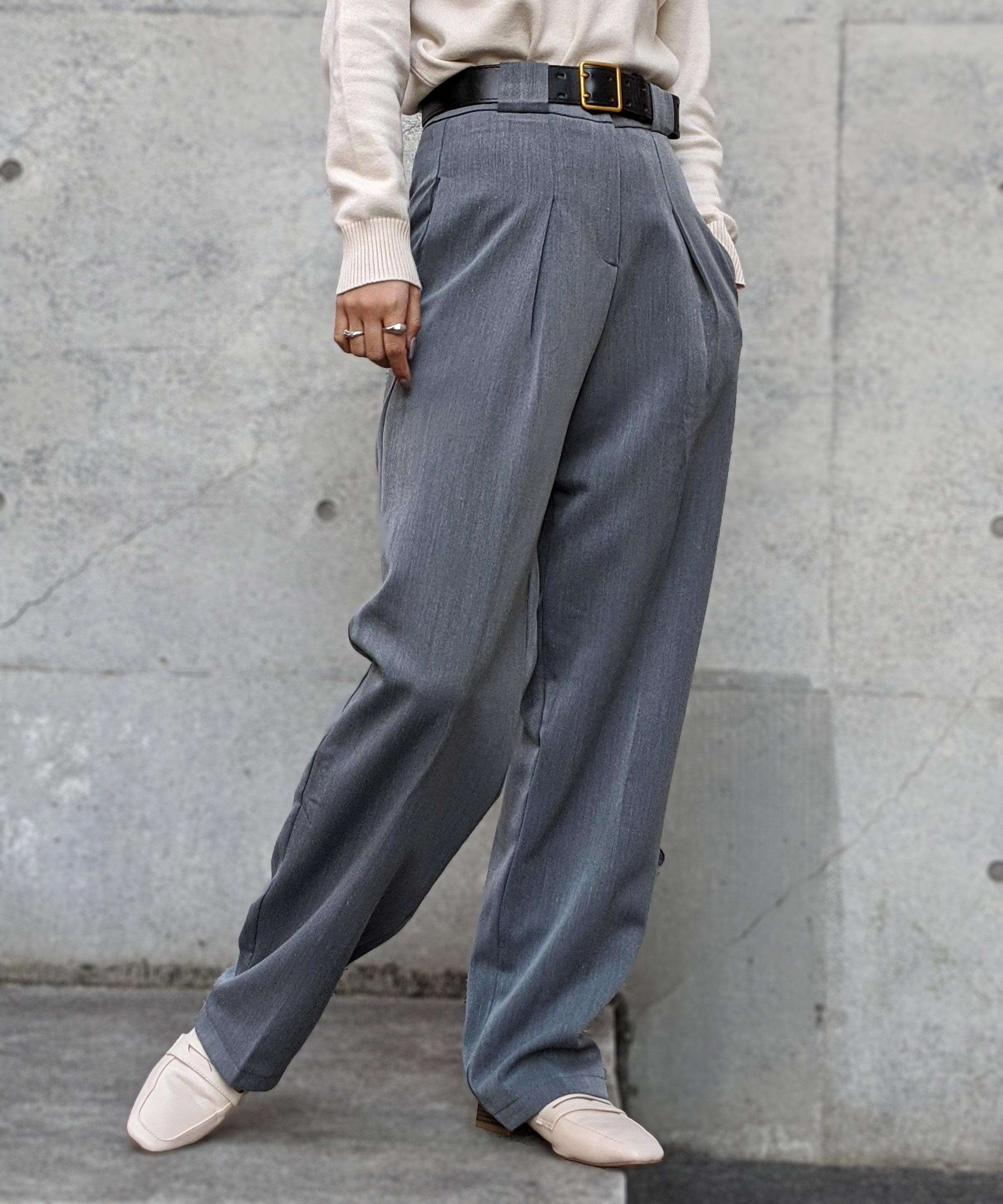 Volume chick slacks pants