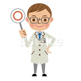 イラスト素材:医者・ドクターの正解・OKイメージ(ベクター・JPG)