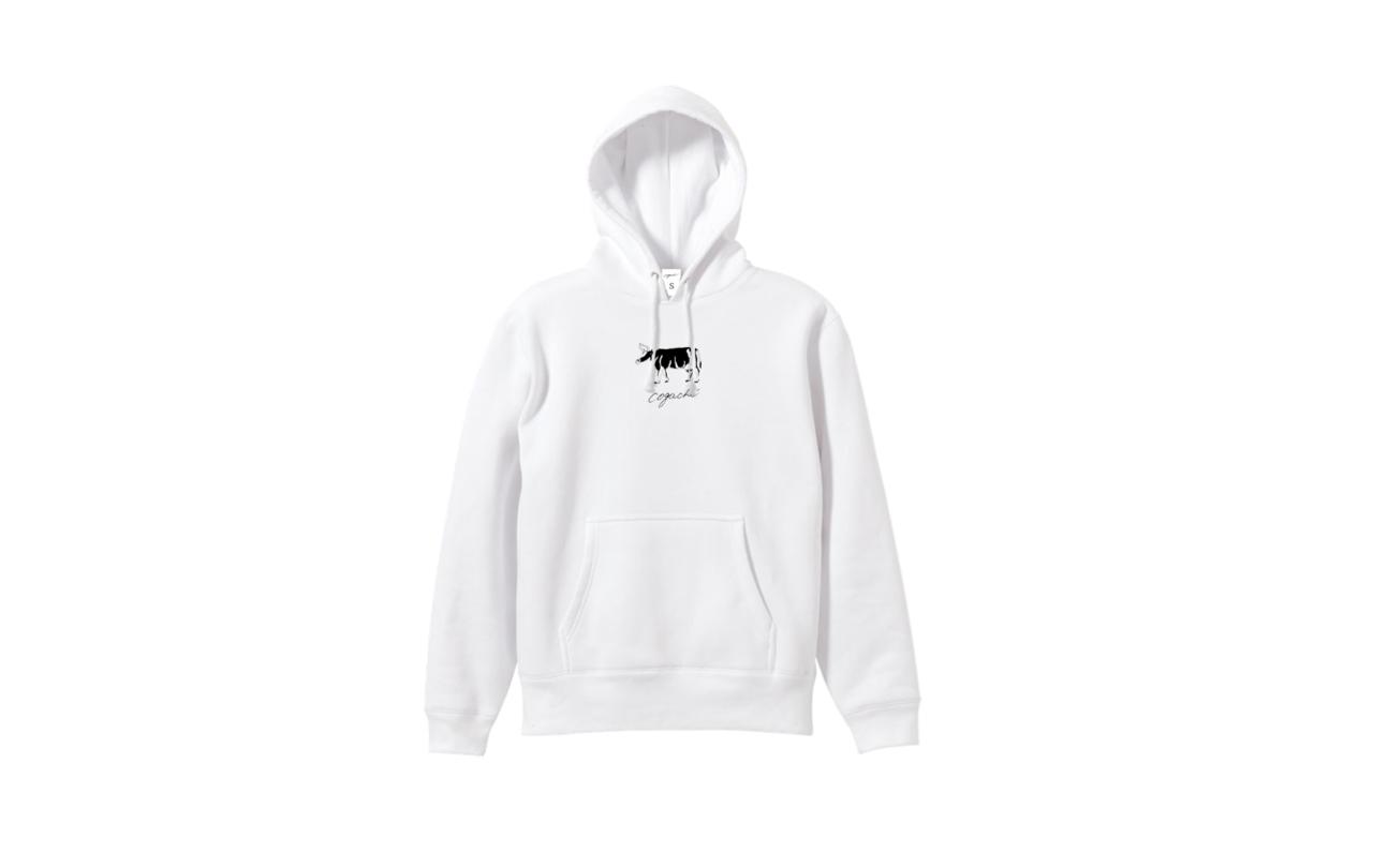 coguchi cow logo hoodie (wh)