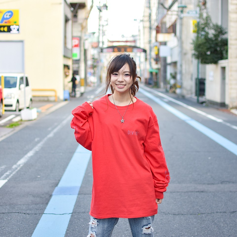Deviluse(デビルユース) | Woman Neon L/S T-shirts(Red)