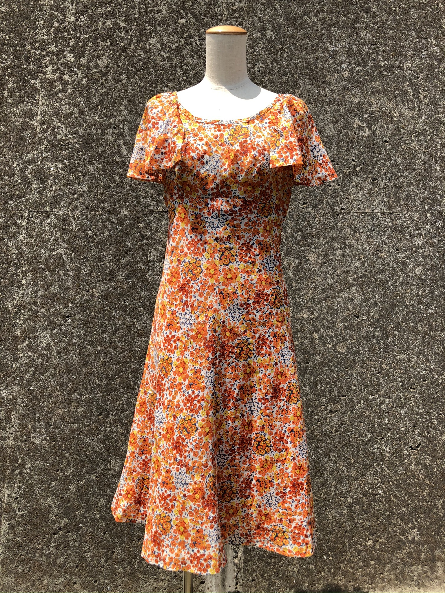 flower printed polyestel dress