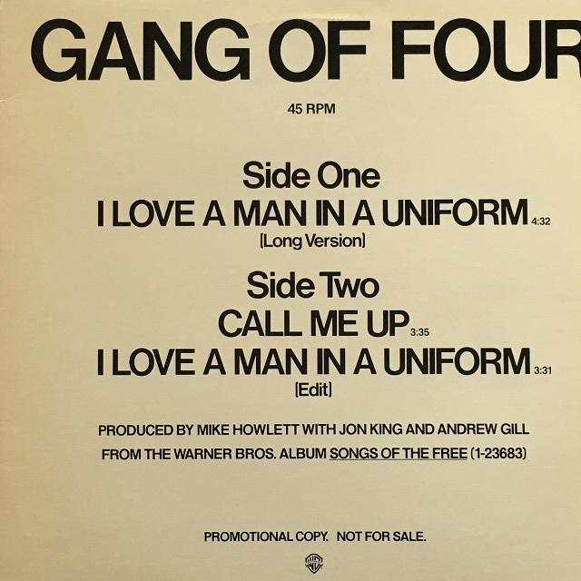 【12inch・米盤】Gang Of Four / I Love A Man In A Uniform (Long Version)
