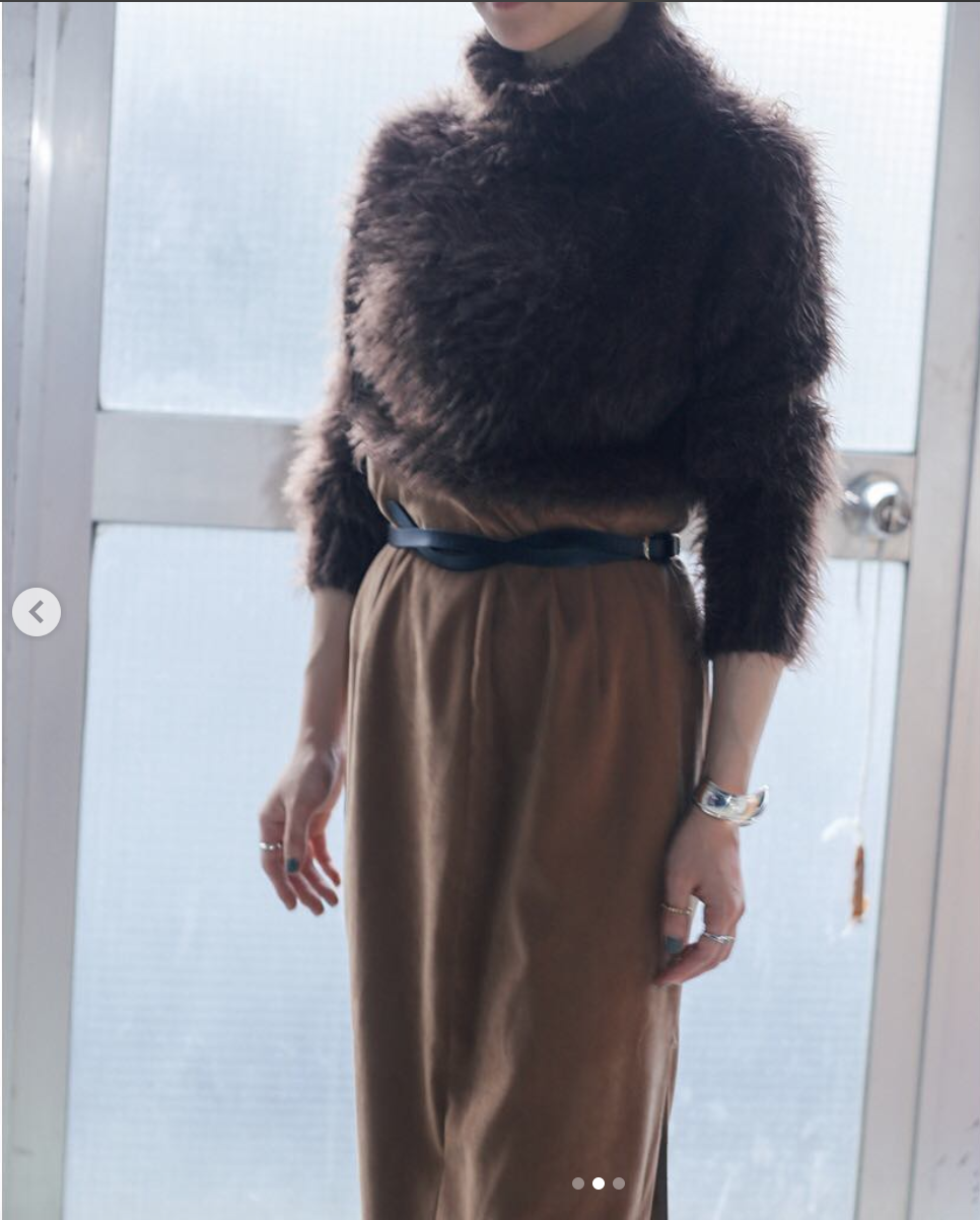 80`s Brown Fuzzy Knit