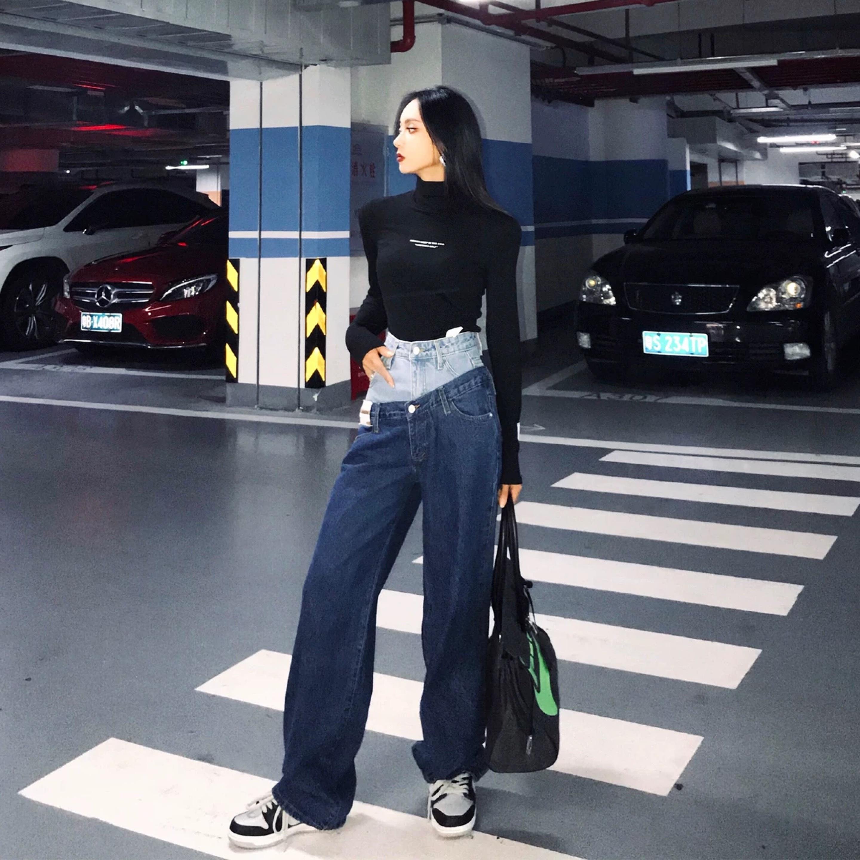 w waist design pants