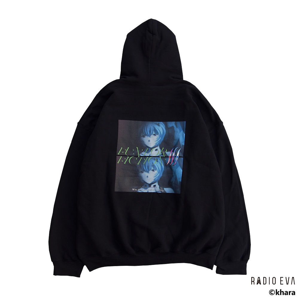 Ayanami (Why don't you just try smiling?) PULL PARKA (BLACK) /  RADIO EVA