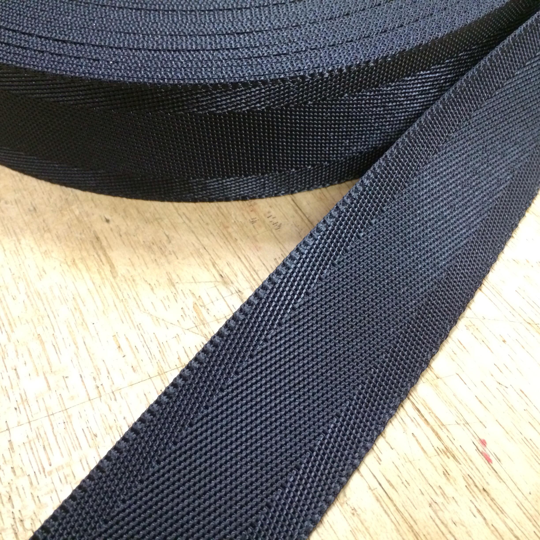 ナイロン ベルト シート織 30mm幅 1.3mm厚 5m  黒