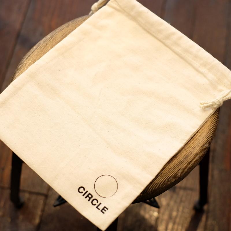CIRCLEオリジナル 生成りコットン 巾着袋