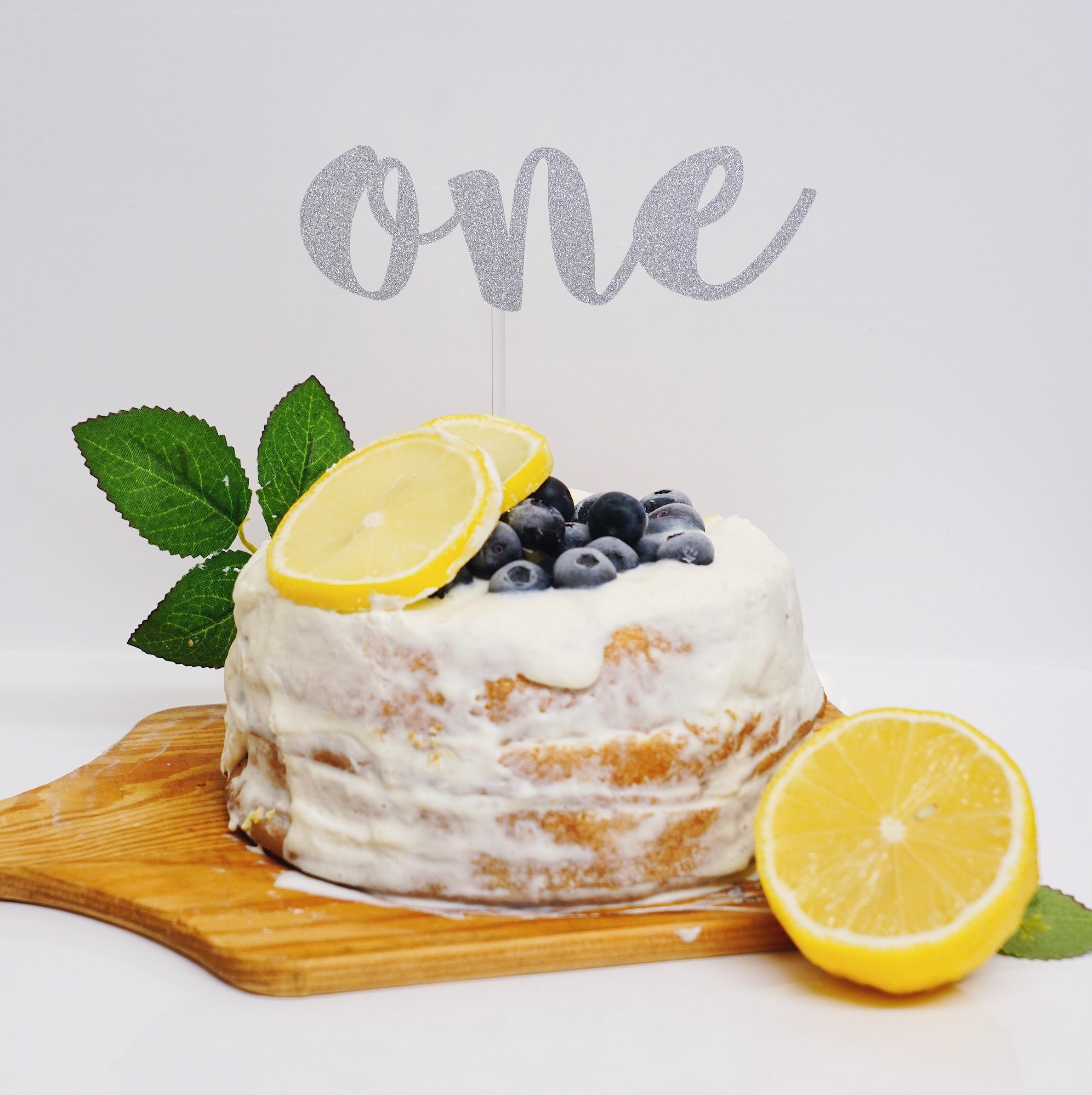 バースデーケーキトッパー(L・グリッターシルバー・名前なし)誕生日 飾り付け