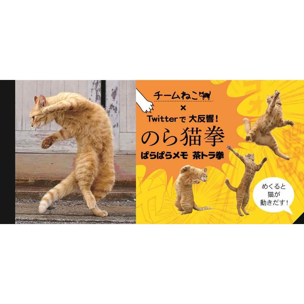 猫メモ(CATのら猫拳ぱらぱらメモ茶トラ拳)