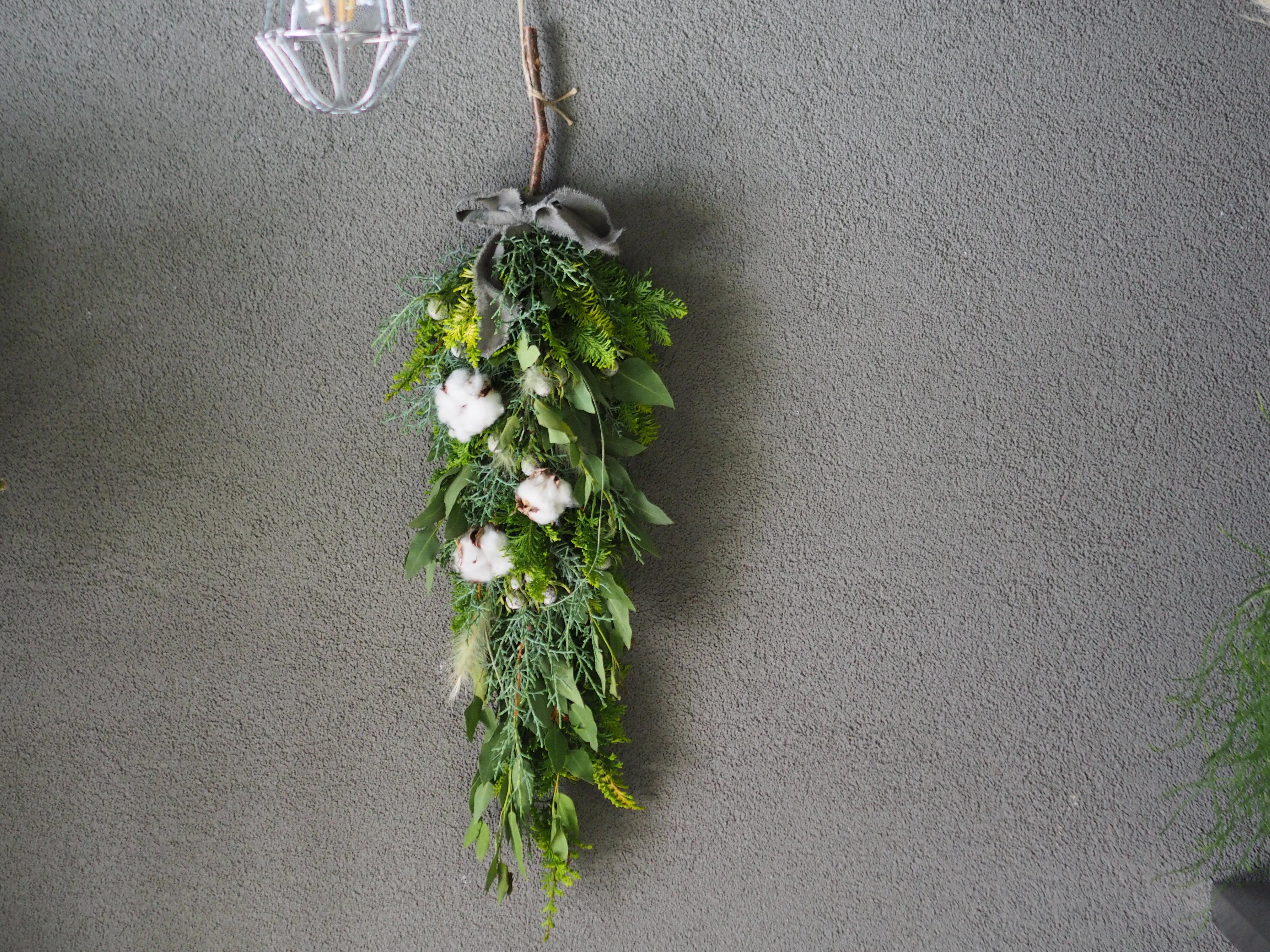 【受注生産】針葉樹のクリスマスガーランドスワッグ