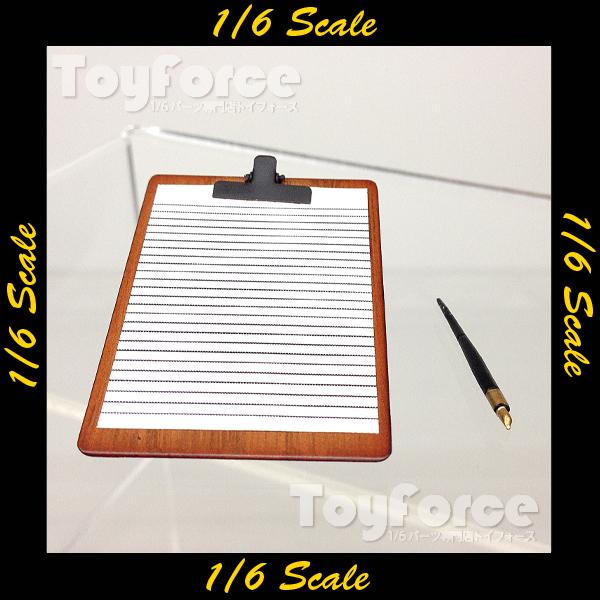 【02329】 1/6 DiD クリップボード 万年筆