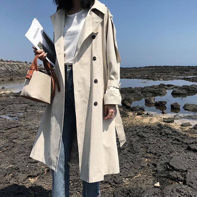 売れ筋☆おすすめ☆ コート トレンチコート ジャケット シンプル 無地 アウター ゆったり