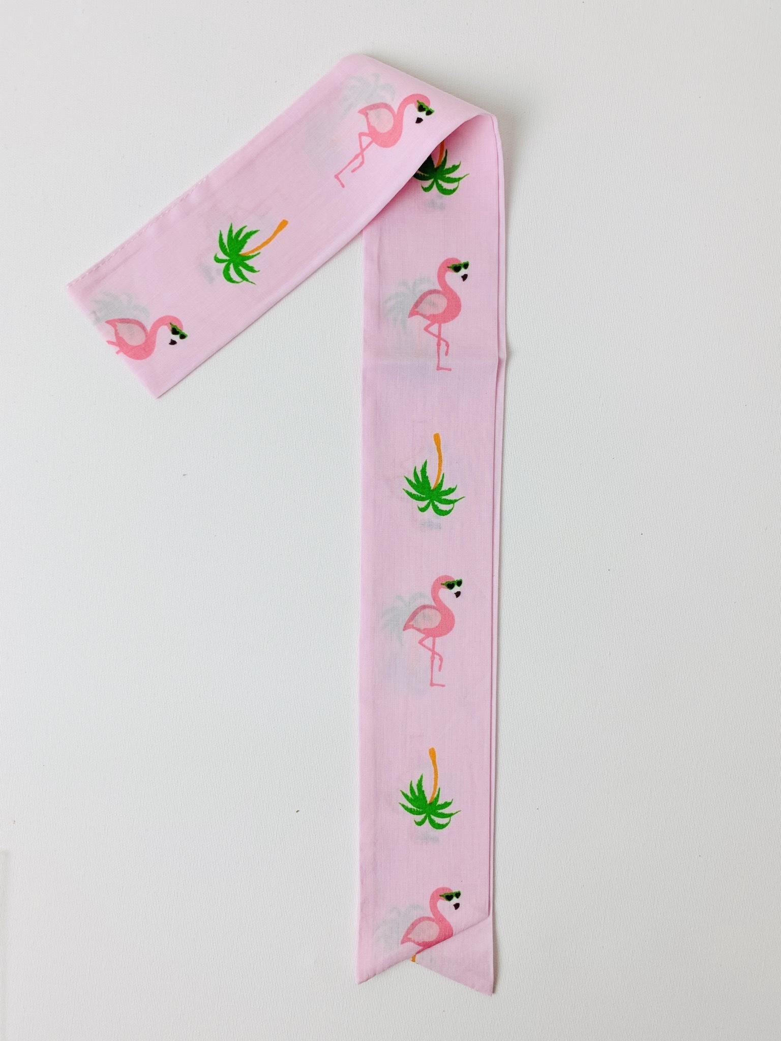 スカーフチャーム フラミンゴ ライトピンク