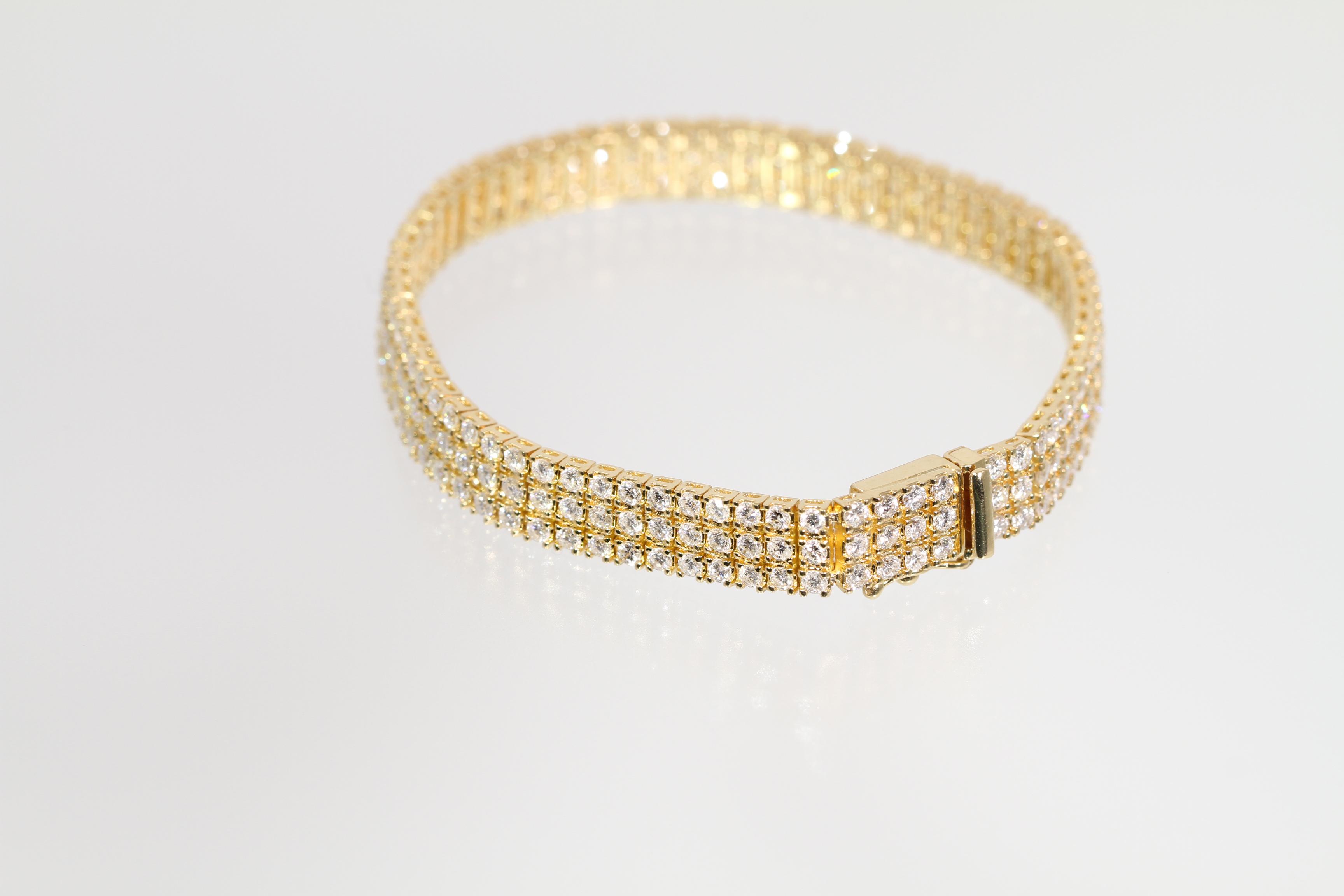 【今だけ大幅値下げ!】K18 6.44ct ダイヤモンドブレスレット
