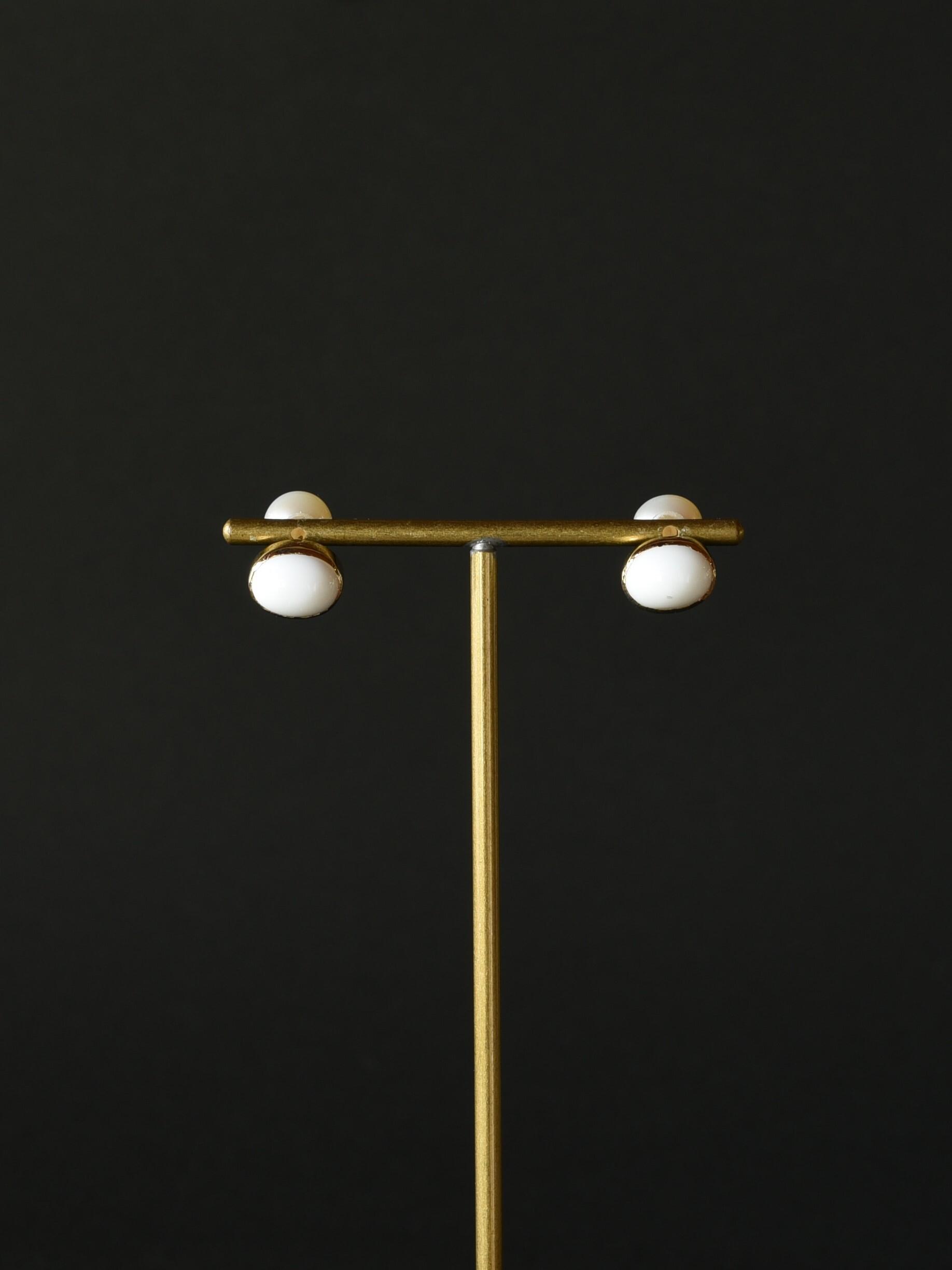 accessories mau p76 ホワイトオニキスオパール brass