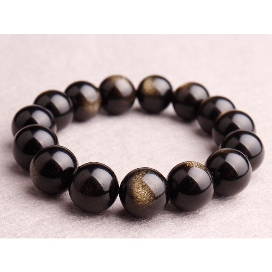 【本質や未来を見通す力】天然石 ゴールデンオブシディアン ブレスレット(10mm)