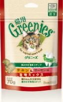 歯磨きスナック猫用グリニーズ(チキン&サーモン)70g