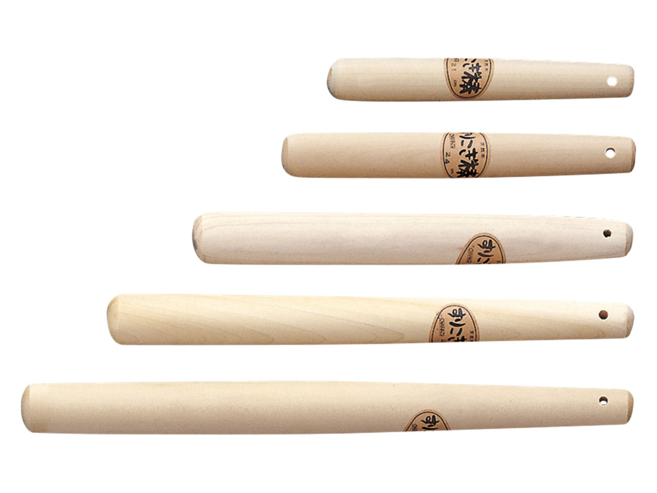木製 「ほおの木 すり棒 42cm」