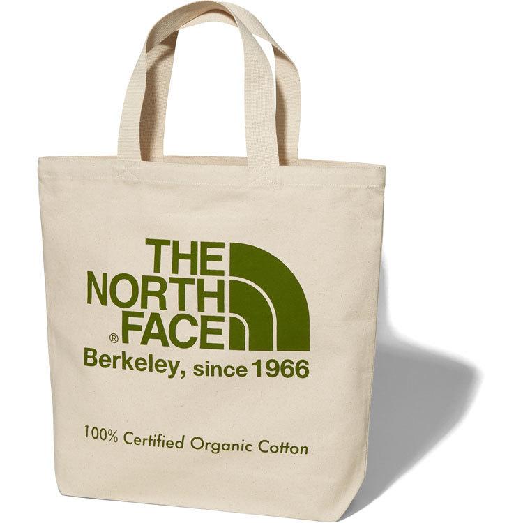 THE NORTH FACE (ザノースフェイス) TNFオーガニックコットントート (GG)ナチュラル×ガーデングリーン NM81908