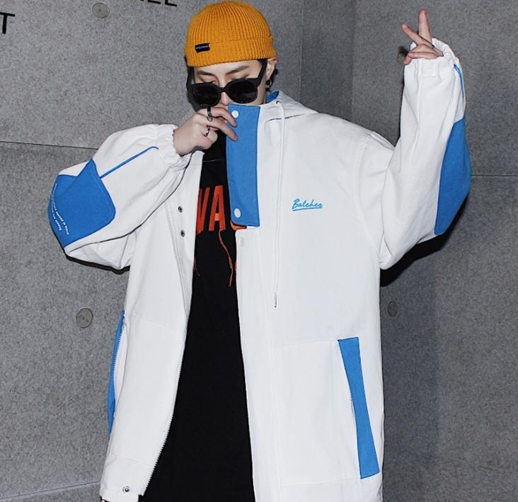 ビッグシルエットハイデザインロゴジャケット 韓流コーデ 春のトレンド