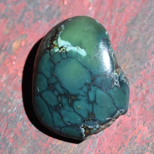 アンティーク・チベタンターコイズ・濃青緑