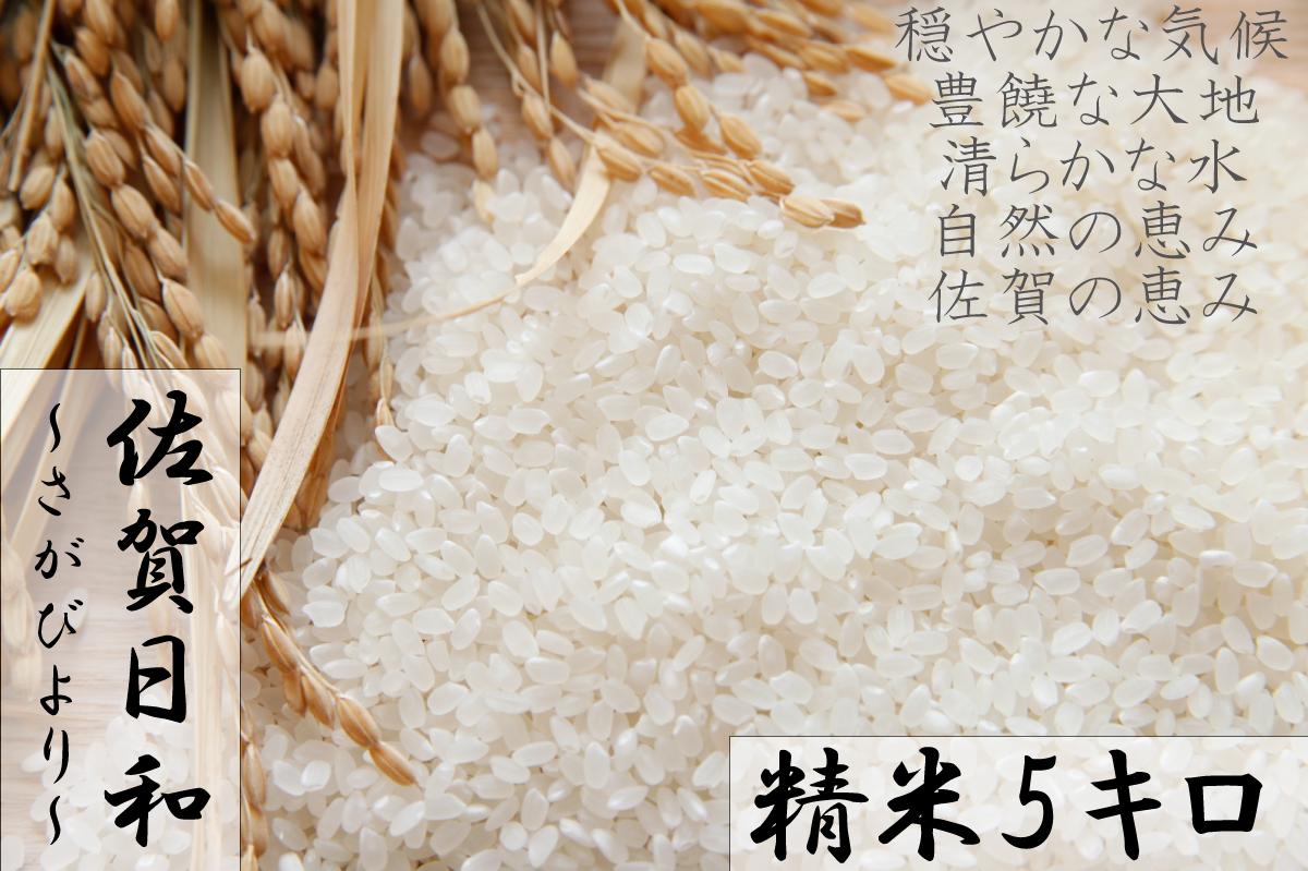 A577  【H30収穫米】みやき町産『さがびより(精米5kg)』8年連続特A受賞