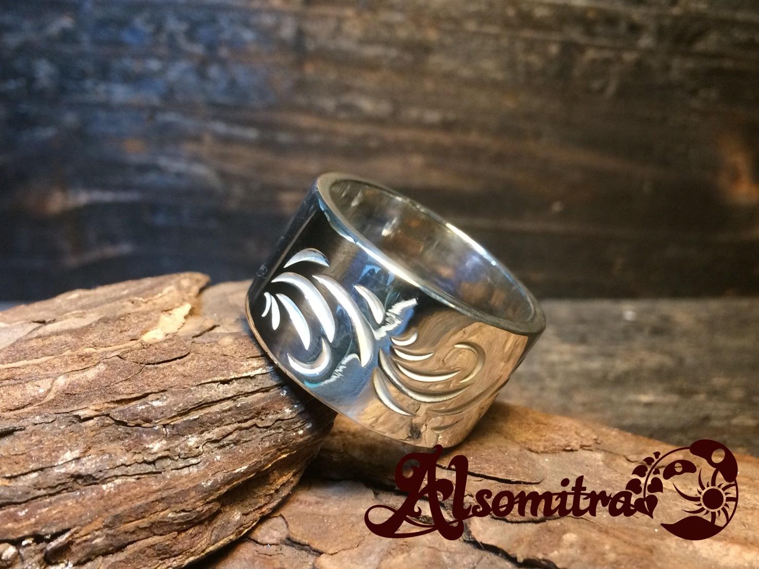 Arabesque Ring(XL) - 唐草模様リング(XL)