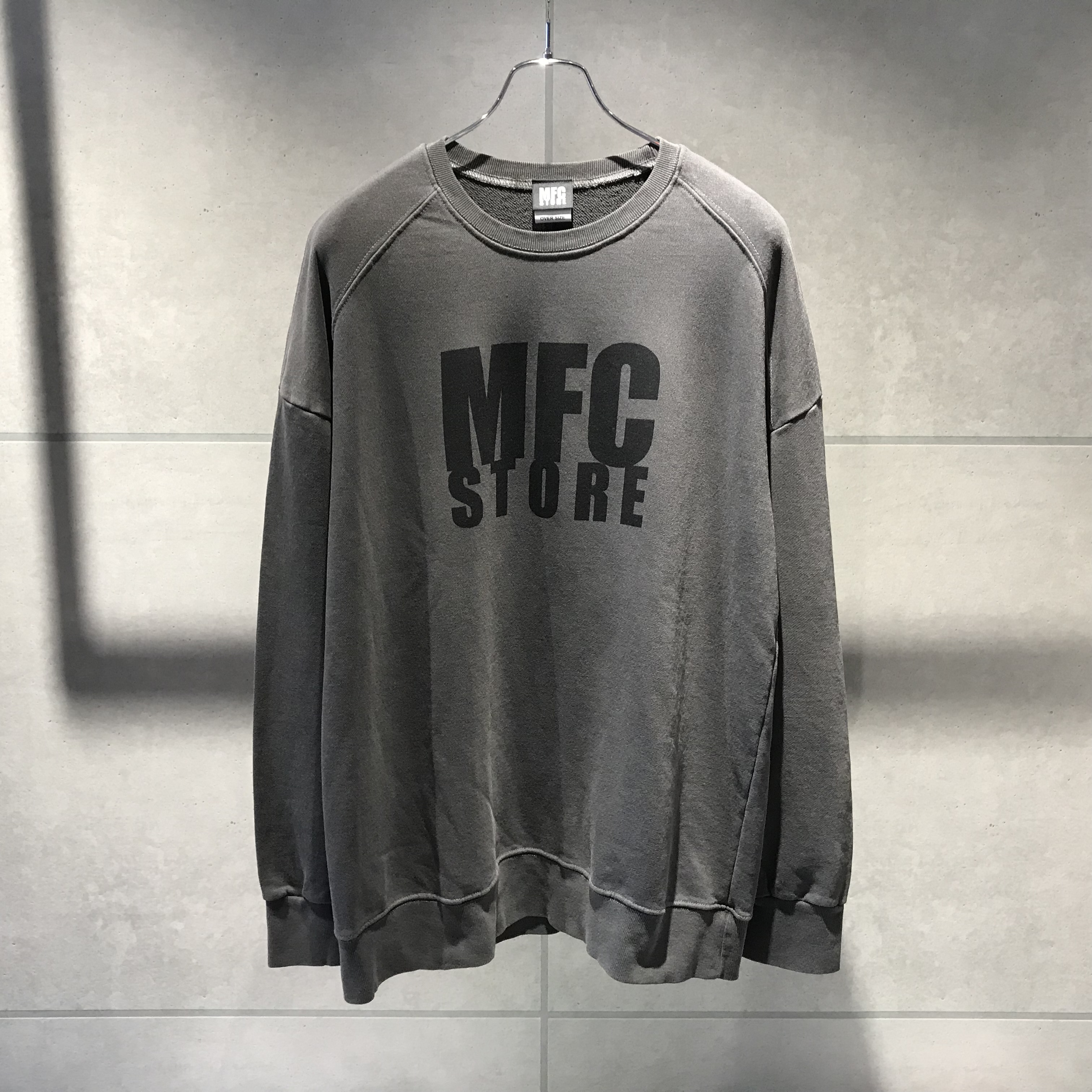 MFC STORE LOGO CREWNECK OVER SWEATSHIRT / BLACK