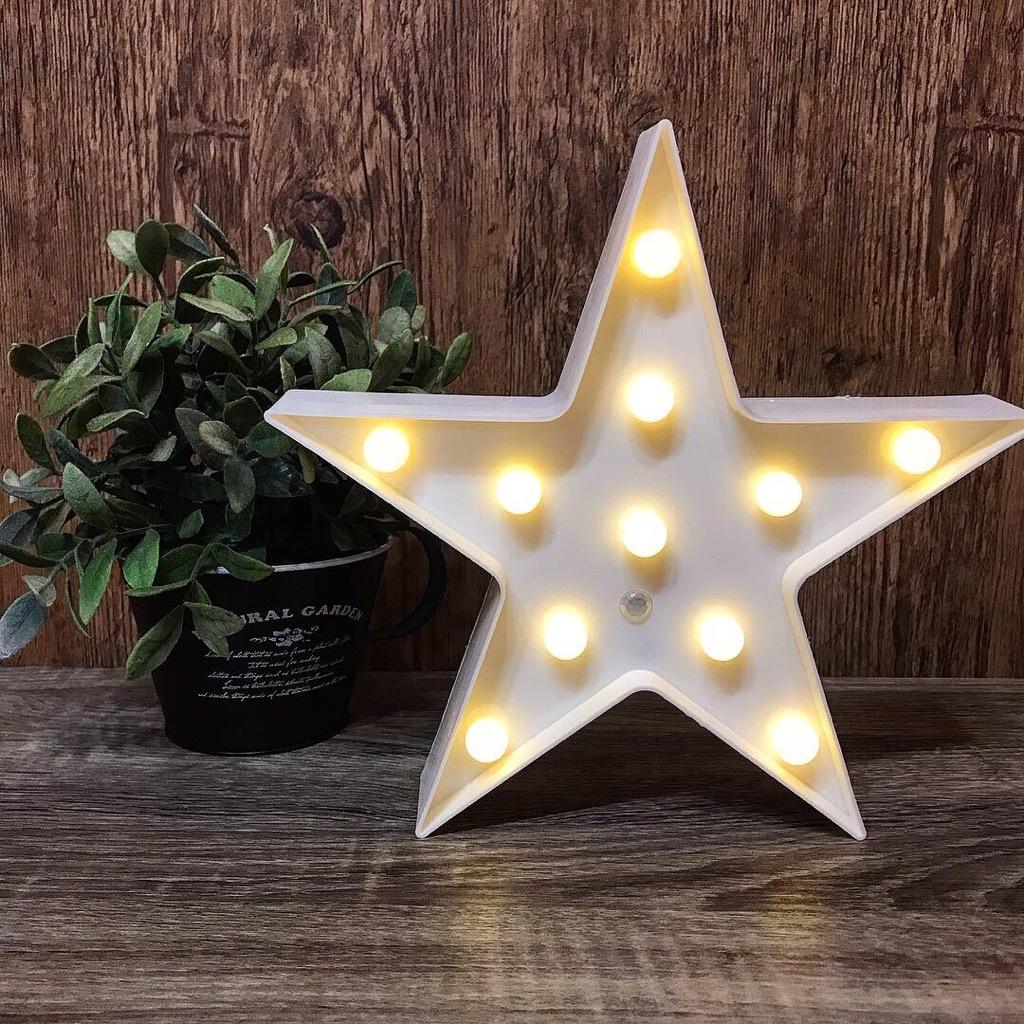 ウェルカム スターライト 白 人感センサー マーキーライト 星型