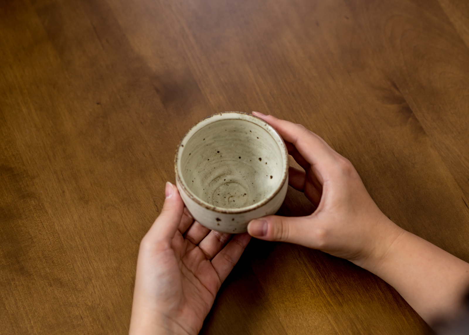 白マット釉 粉引き湯呑(フリーカップ・湯呑み)/くるり窯
