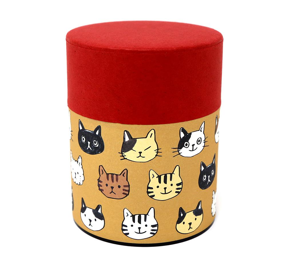 猫お茶缶(のあねこぷっくり)ねこ顔