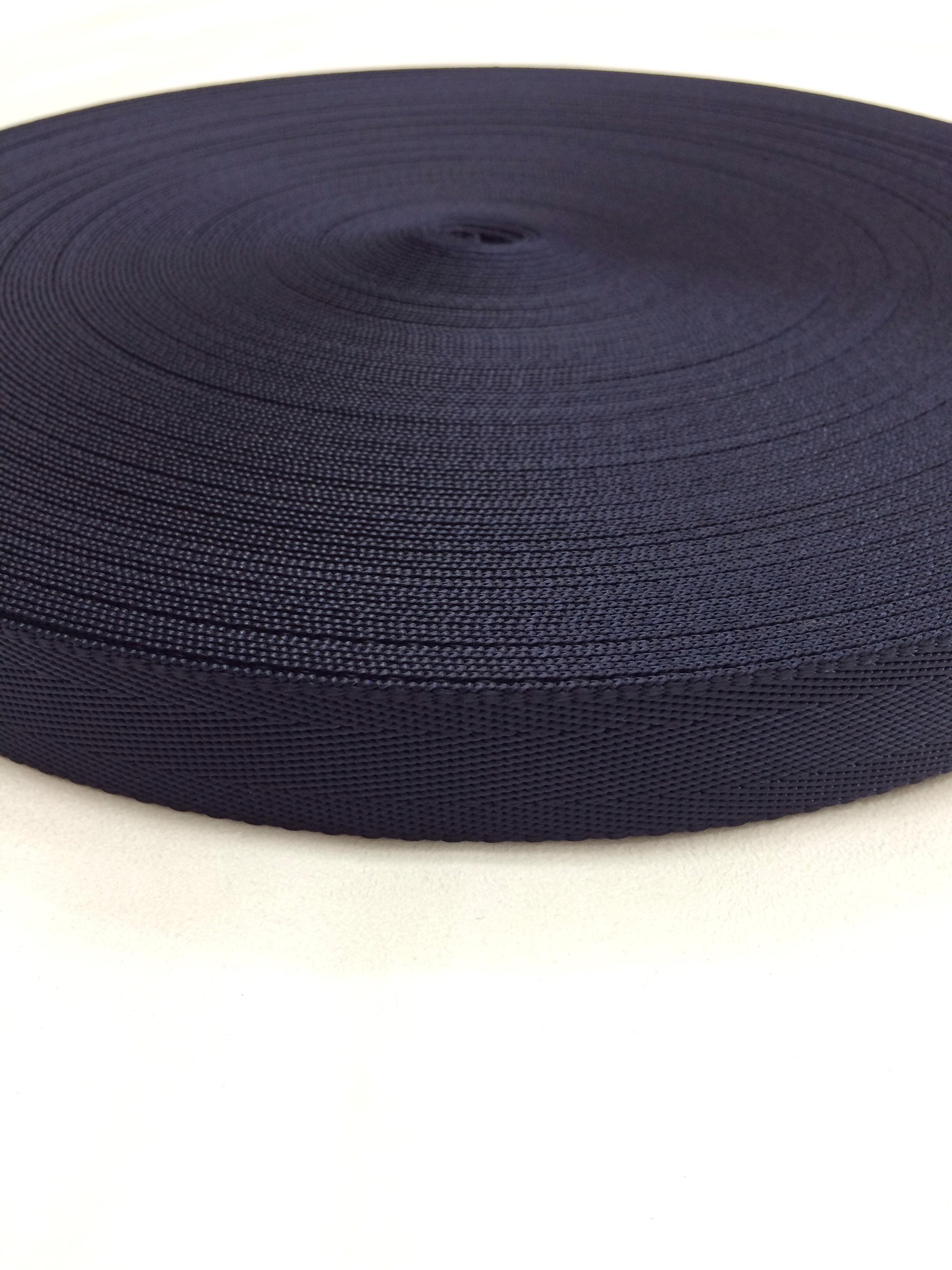 ナイロンシート織 25mm幅 1.3mm厚 カラー(黒以外) 1m