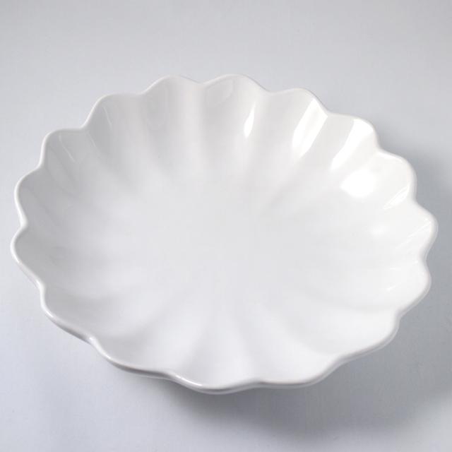 Mateus マテュース テーブルウェア オイスターボウル(丸深皿) 24 cm ホワイト (E368-K)