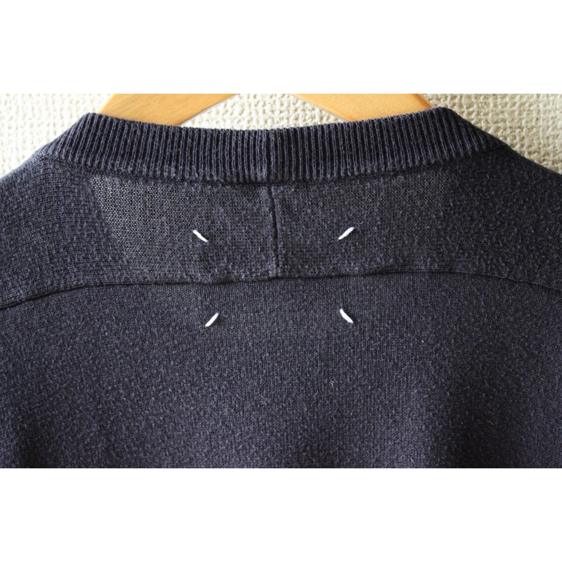 Elbow patch sweater by Maison Margiela