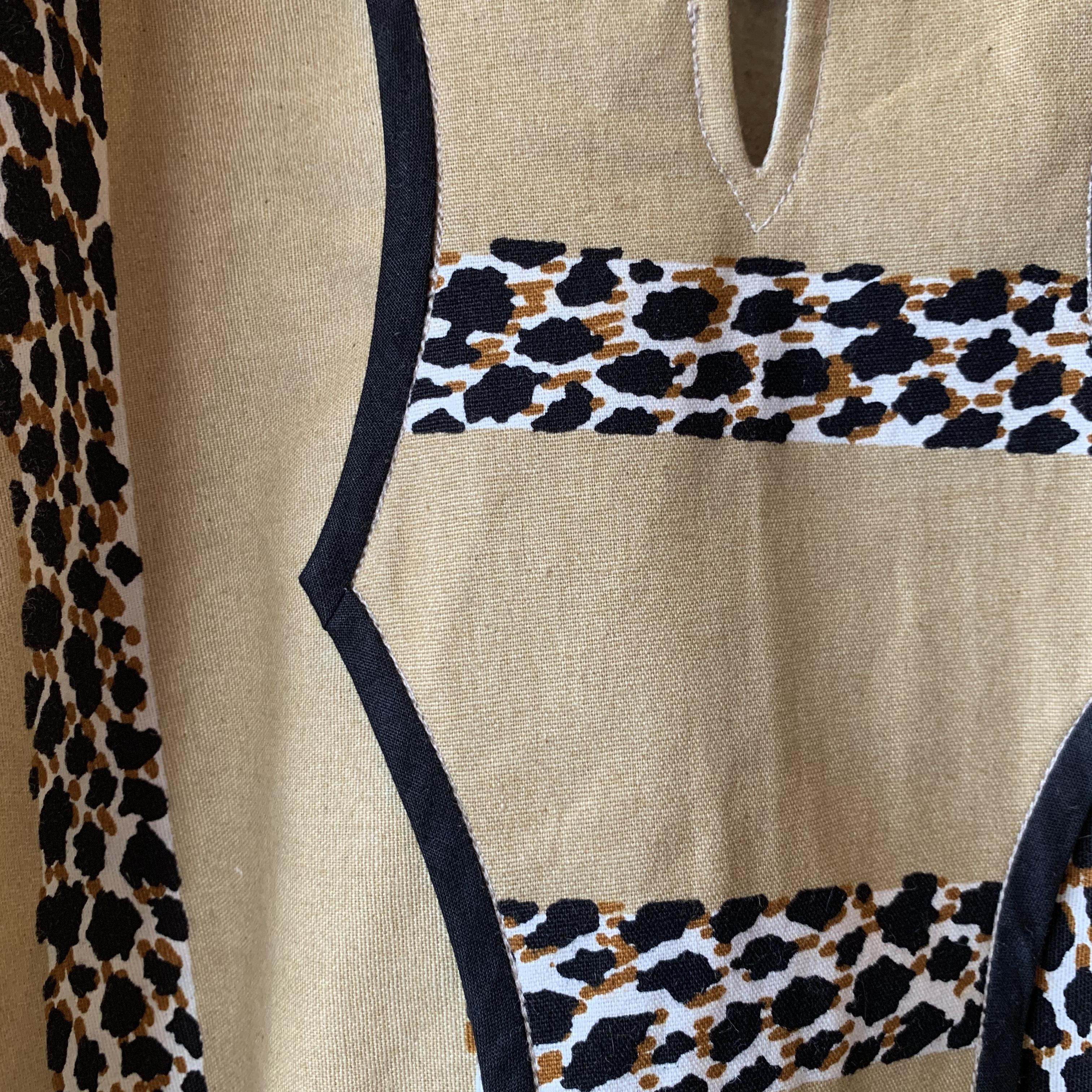 vintage oversized leopard tops