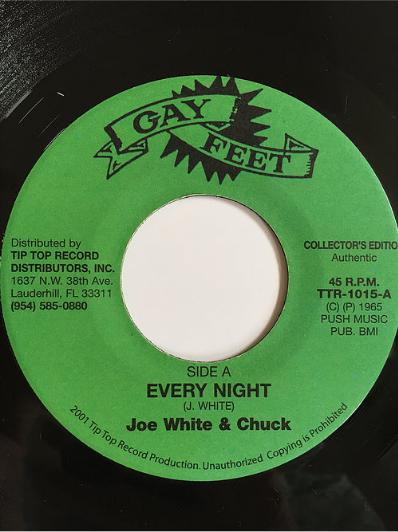 Joe White(ジョー・ホワイト) & Chuck(チャック) - Every Night【7inch】