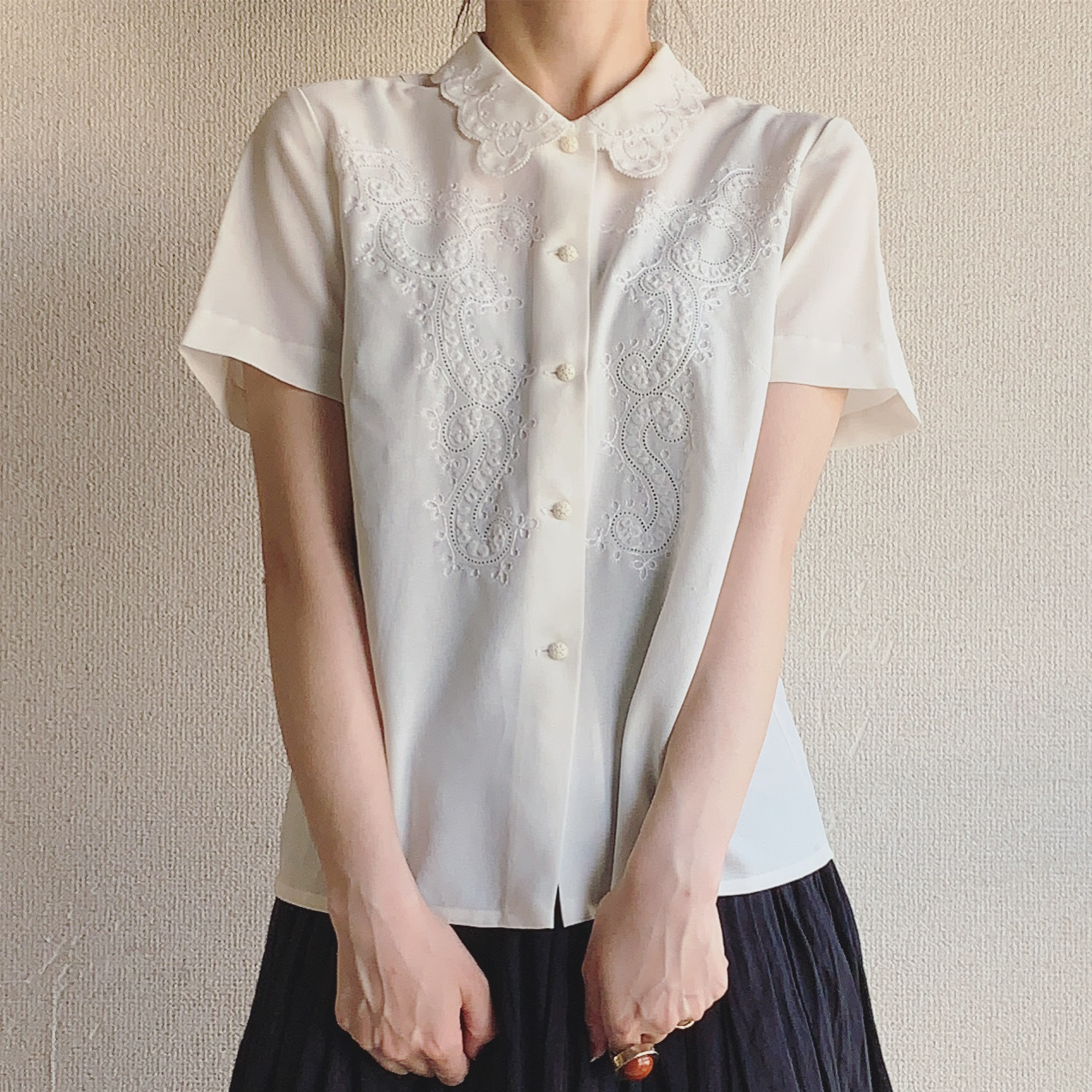 vintage lace embroidery tops