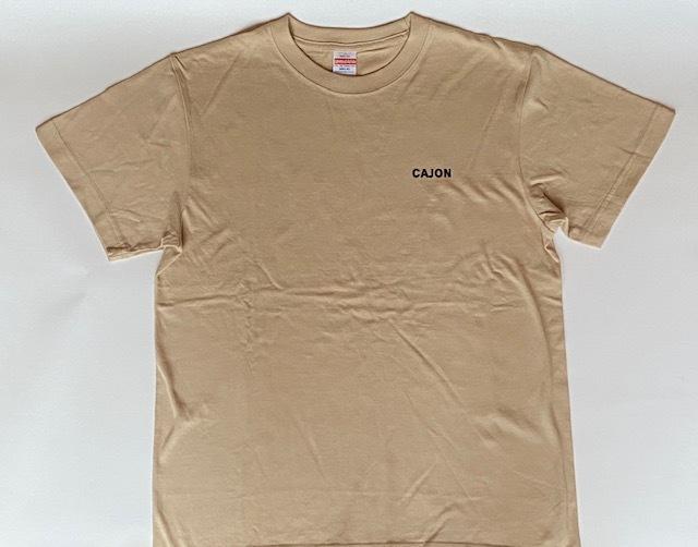 「カホン&猫」Tシャツ(ライトベージュ)