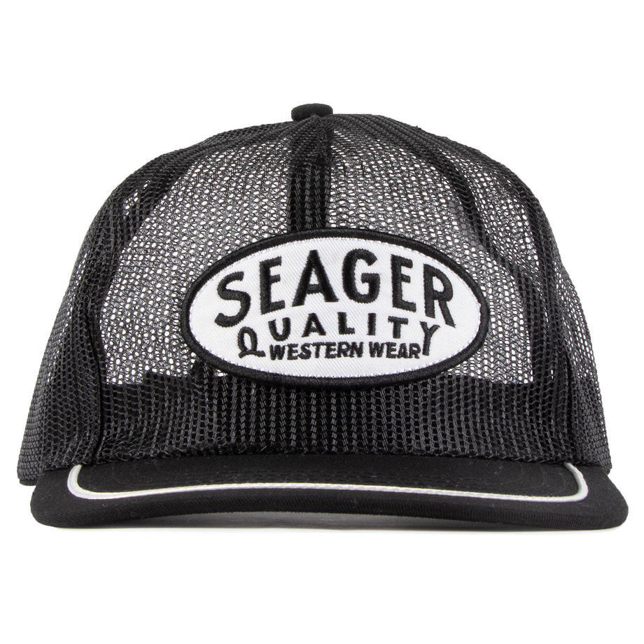 SEAGER #Old Town All Mesh Snapback Black