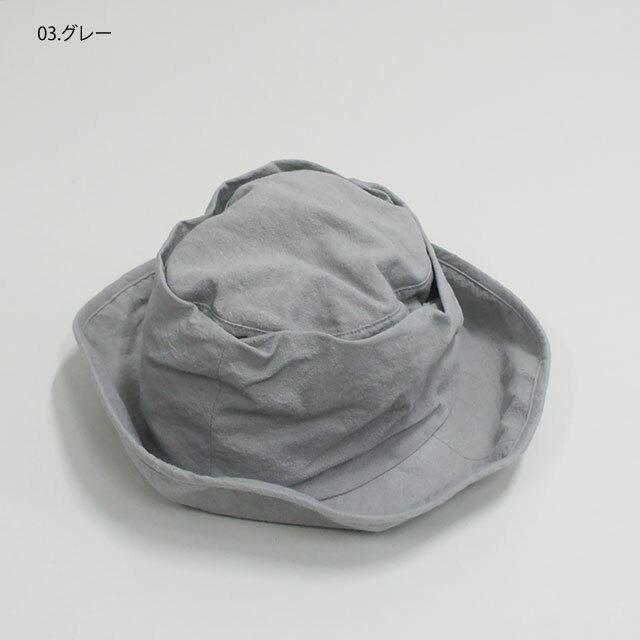 prit プリット リネンコットンキャンバスリンクルハット (品番02920)