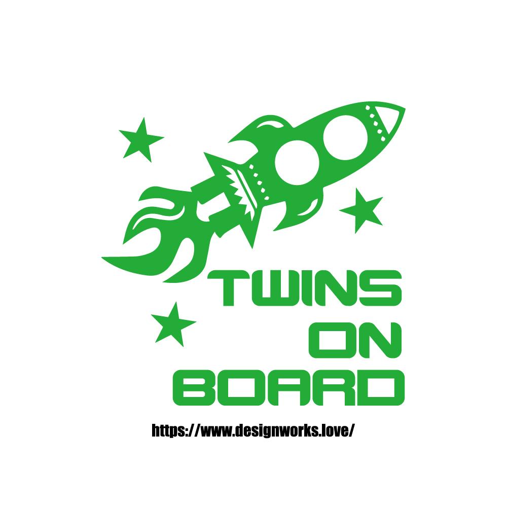 全10色 TWINS ON BOARD スペースシャトル ステッカー