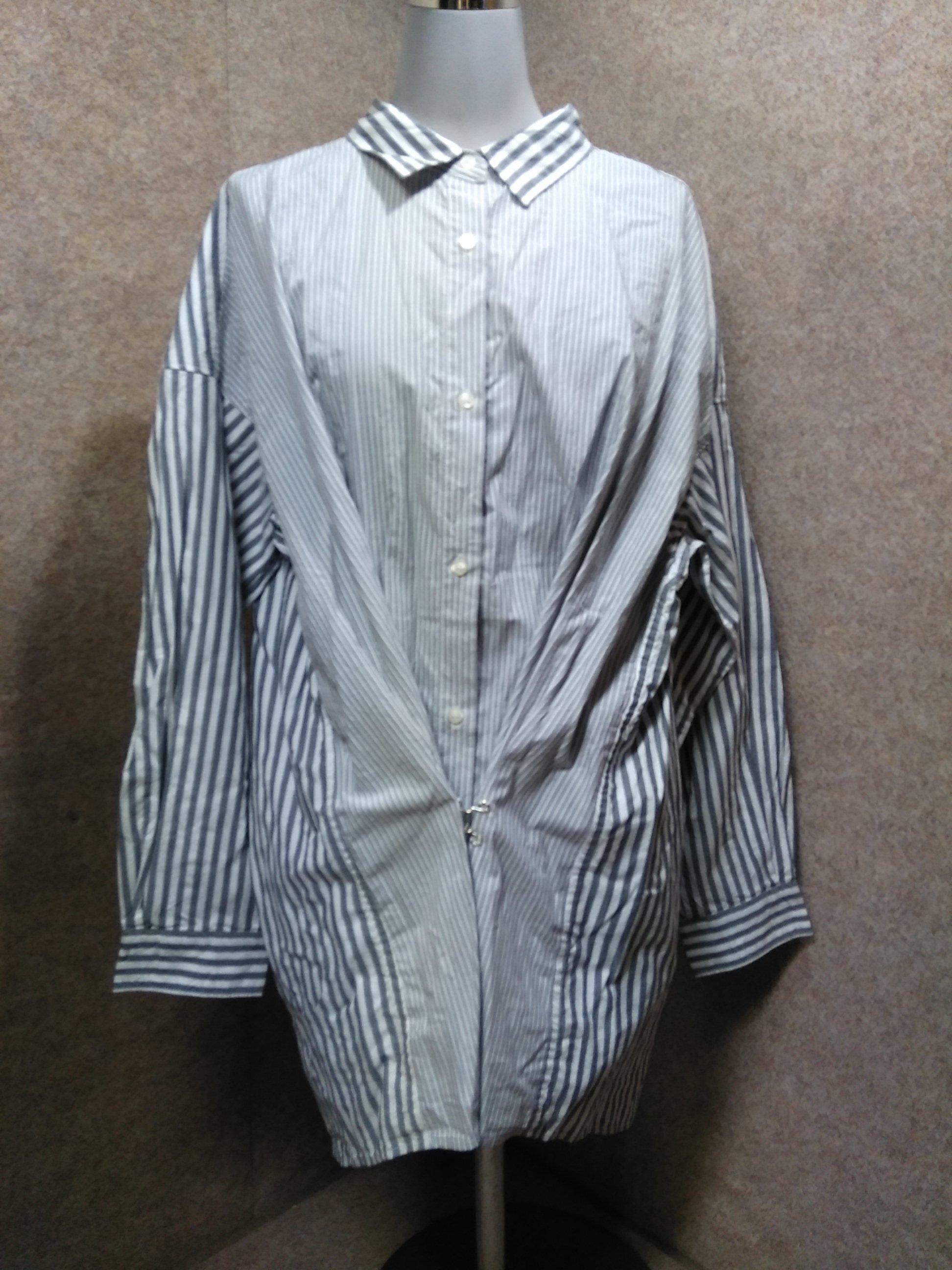 ニコアンド niko and … オーバーサイズシャツ 4 グレー u1104c