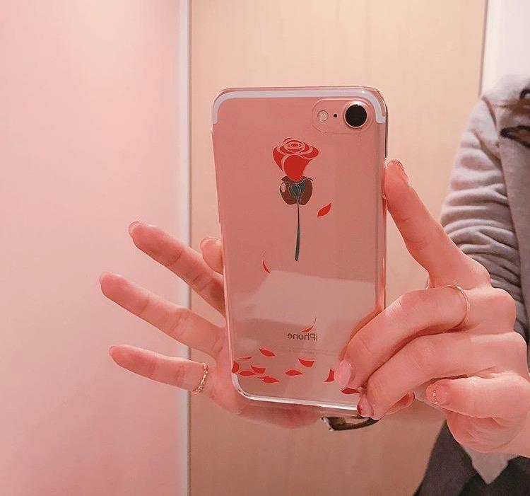 薔薇クリアケース iPhone7
